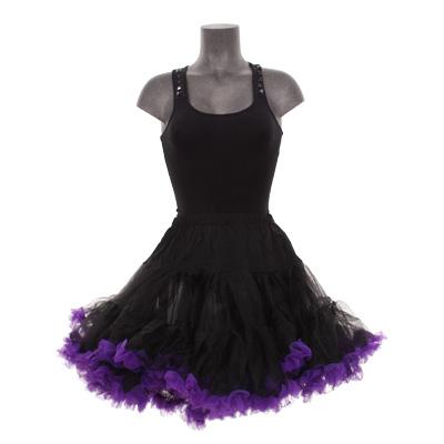 7ef60e10db9 10 % OFF : Higher Peaks Petticoat Kort Zwart/Paars van Hell Bunny ...