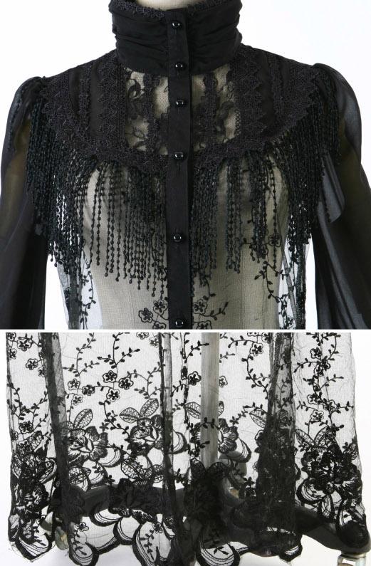 Zwarte Gothic Blouse 15